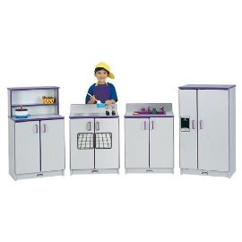 Jonti-Craft 2030JCWW004 KITCHEN SET - 4 PIECE SET - PURPLE