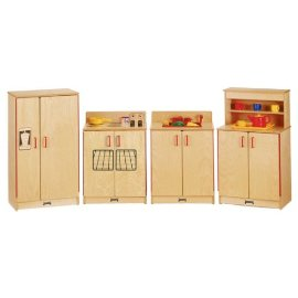 Jonti-Craft 2035JC THE NATURAL BIRCH KITCHEN - 3 PIECE SET - Sink, Stove, Fridge