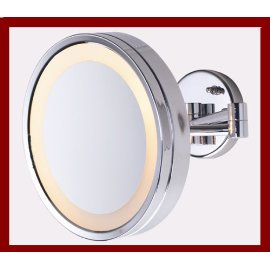 Large 10 Chrome Lighted MakeUp Mirror 5X For Make Up