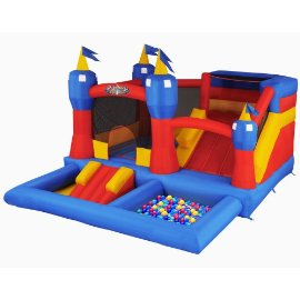 Misty Kingdom Inflatable Bounce House, Water Park and Ball Pit