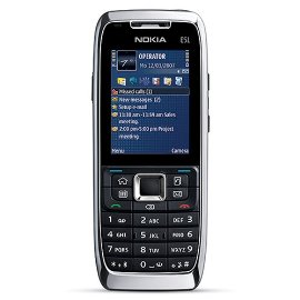 Nokia E51 Unlocked Smartphone with 2MP Camera, 3G, Wi-Fi, Media Player, MicroSD Slot--U.S. Version with Warranty (White Steel)