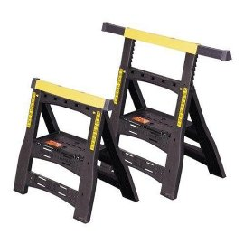 Stanley 60622 Folding Adjustable Sawhorse Twin Pack
