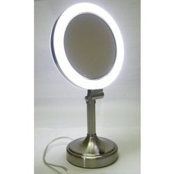 Zadro Surround Light Pedestal Makeup Mirror Slv410