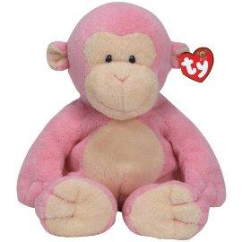 Baby Dangles - pink monkey