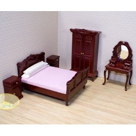 Melissa & Doug Deluxe Doll-House Bedroom Furniture