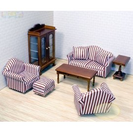 Melissa & Doug Deluxe Doll-House Furniture- Living Room Set