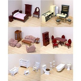 Melissa& Doug Victorian Dollhouse Furniture Bundle