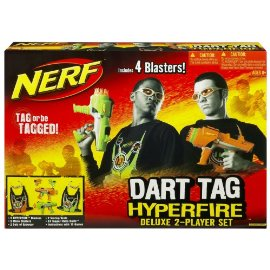 Nerf Dart Tag Hyperfire Deluxe 2-Player Set (with 4Blasters )