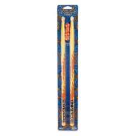 Rockband Rubber Tip Drum Sticks - Yellow Flames