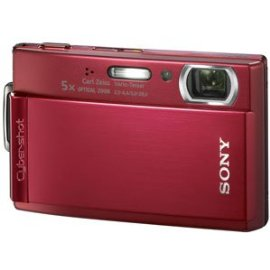 Sony Cybershot DSCT300/R 10.1MP Digital Camera with 5x Optical Zoom with Super Steady Shot (Red)