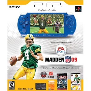 Sony PSP Madden NFL '09 Entertainment Pack (Limited Edition, Lighter, Slimmer, Metallic Blue)