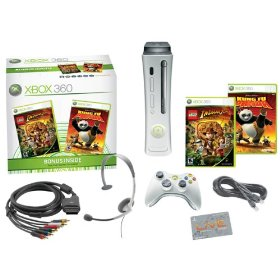 Xbox 360 Pro Bundle (includes 60GB Hard Drive, Kung-Fu Panda, LEGO Indiana Jones)