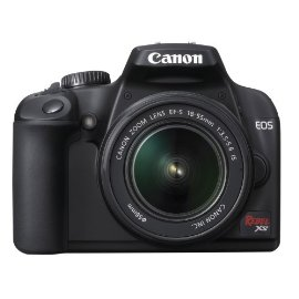 Canon EOS Rebel XS 10.1MP Digital SLR Camera with EF-S 18-55mm f/3.5-5.6 IS Lens (Black)