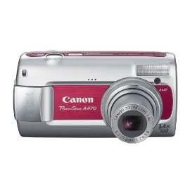 Canon PowerShot A470 7.1 MP Digital Camera with 3.4x Optical Zoom (Red)