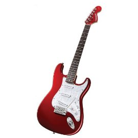 fender starcaster strat pack electric guitar with amp and accessories candy apple red gosale. Black Bedroom Furniture Sets. Home Design Ideas