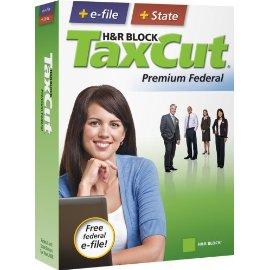 H&R Block TaxCut 2008 Premium Federal + State + e-file