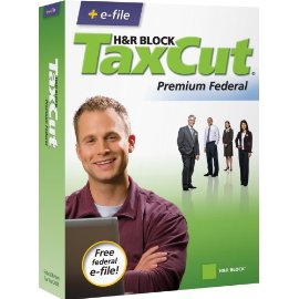 H&R Block TaxCut 2008 Premium Federal + e-file