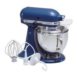 KitchenAid KSM150PSBW Artisan 5-Quart Stand Mixer (Blue Willow)