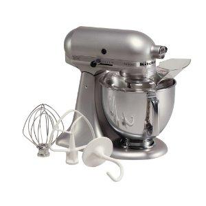 KitchenAid KSM150PSSM Artisan Series 5Qt. Stand Mixer (Metalllic-Silver)