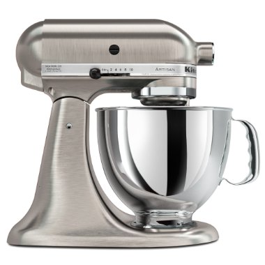 KitchenAid KSM152PSNK Custom Metallic Artisan Series 5-Quart Mixer (Brushed Nickel)