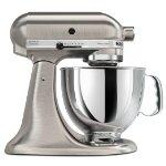 KitchenAid KSM152PSNK Custom Metallic Artisan Series 5-Quart Mixer (Brushed Nickel)