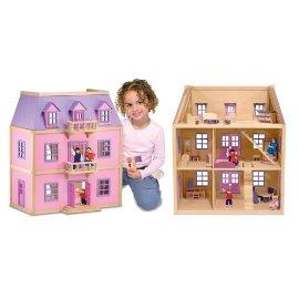 Melissa & Doug Multi-Level Solid Wood Dollhouse