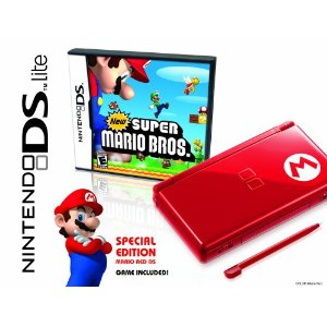 Nintendo DS Lite Mario Red DS Bundle with New Super Mario Bros. Bundle (Special Edition)