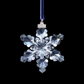 Swarovski 2008 Crystal Christmas Ornament (Large Snowflake ...