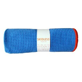 Yogitoes Skidless Premium Mat Yoga Towel (Blue)