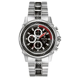 Bulova Marine-Star Chronograph Watch (Ice, Carbon Fiber) #96A002