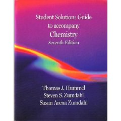 Chemistry: Student Solutions Guide, Seventh Edition (7th Edition)