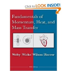 Fundamentals of Momentum, Heat and Mass Transfer (5th Edition)