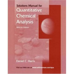 Quantitative Chemical Analysis Student Solutions Manual(Seventh Edition)
