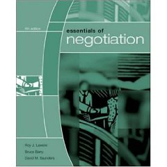 Essentials of Negotiation (4th Edition)