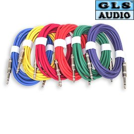 6 12'ft TRS 1/4 Patch Snake Cord Cable GLS Audio
