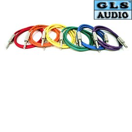 "6 3'ft TRS 1/4"" Patch Snake Cables 3ft GLS Audio"