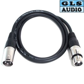 6 3'ft XLR Patch Snake Cord Cables 3ft GLS Audio