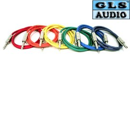 6 6'ft TRS 1/4 Patch Snake Cord Cables GLS Audio