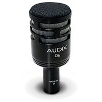 Audix D6 Sub Impulse Dynamic Instrument Mic, Black