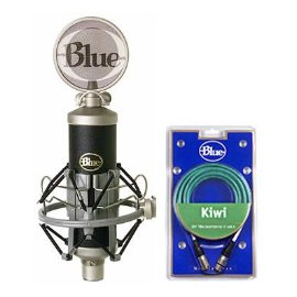 Blue Baby Bottle Condenser Microphone, Custom Shockmount, Pop Filter and Kiwi Cable Package