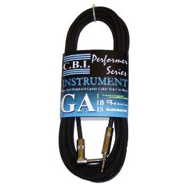 CBI American Instrument Cable with Right Angle Plug - 25 Foot