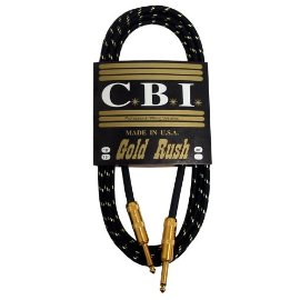 CBI Gold Rush Guitar Cable - 10 Foot