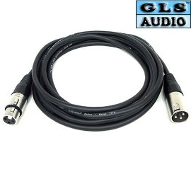 GLS Audio XLR Mic Patch Snake Cable Cord - 12ft Black - 10 Pack