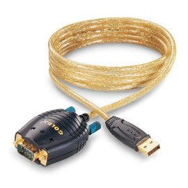 GOLDX 1Foot USB to RS232 Serial Cable, GXMU-1201