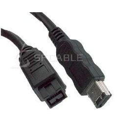 IEEE-1394 9 Pin to 6 Pin Firewire Cable 3 ft