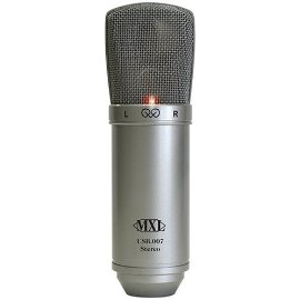 MXL USB.007 Stereo USB Condenser Microphone with Two Gold Diaphragm Capsules Includes Desktop Stand, USB Cable, and Carrying Case