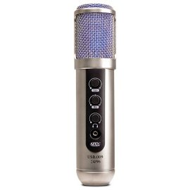 MXL USB.009 24-Bit Studio/Broadcast USB Condenser Microphone. Includes Desktop Stand, USB Cable, and Aluminum Flight Case.