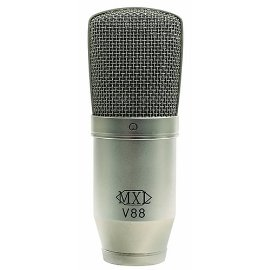 MXL V88 Large Diaphragm Studio Condenser Microphone with Shock Mount