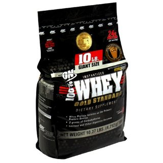 ON Gold Standard 100% Whey, Double Rich Chocolate, 10lb Giant-Size Bag