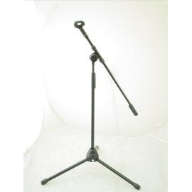 223 Low Profile BOOM Microphone Stand w. CLIP - Amp Mic